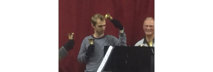Peter playing handbells