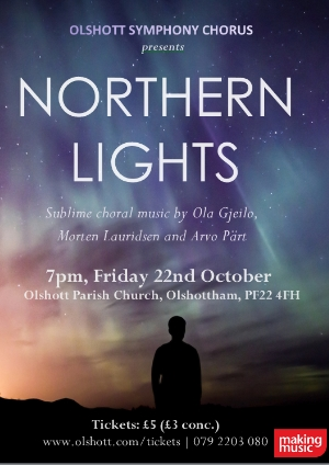 Northern Lights poster template