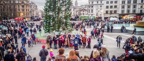 Join us to sing carols in Trafalgar Square (Photo: Garry Knight)