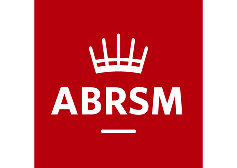 abrsm logo - red background with white lettering and crown above underlined ext
