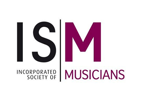 ism logo - black 'IS' with vertical line before purple 'M', 'incorporated society of musicians' displayed underneath