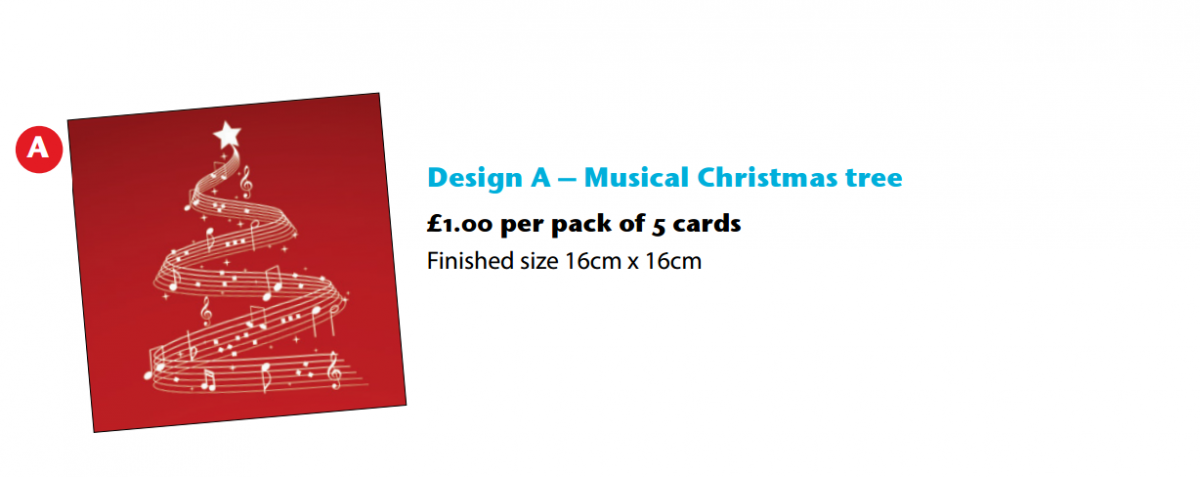 Music Charity Christmas Cards option 1