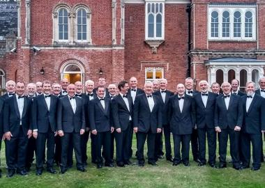 2018: Monmouth Male Voice Choir perform at the Rolls of Monmouth Golf Club in tuxedos
