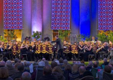 2015: Bury St Edmunds Concert Band perform at the Last Night of the Proms