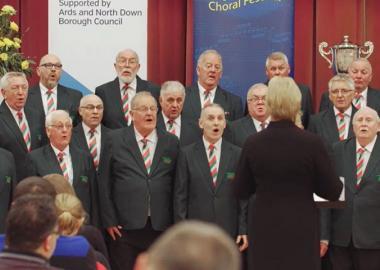 Trelawnyd Male Voice Choir perform at Bangor International Choral Festival
