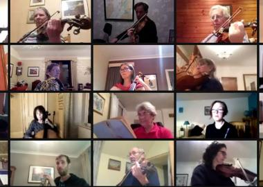Helensburgh Orchestral Society rehearse on Zoom