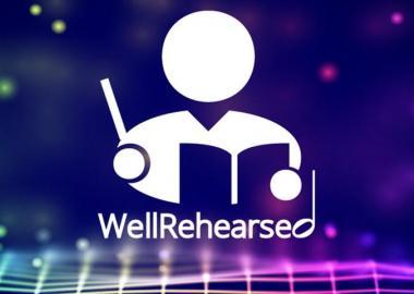 WellRehearsed app logo - a figure conducting